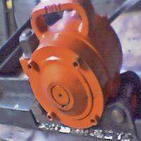 VIBROTOR™ CCR 5500 consolidando elementos prefabrados de hormigon.